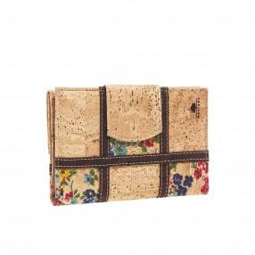Checkered Cork Bag for Women