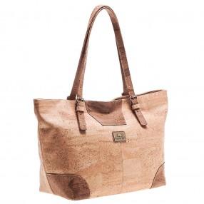 Shopping Bag de Cortiça, com Pormenores Geométricos