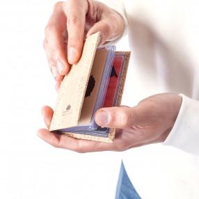 Porta Cartões em Cortiça com Micas