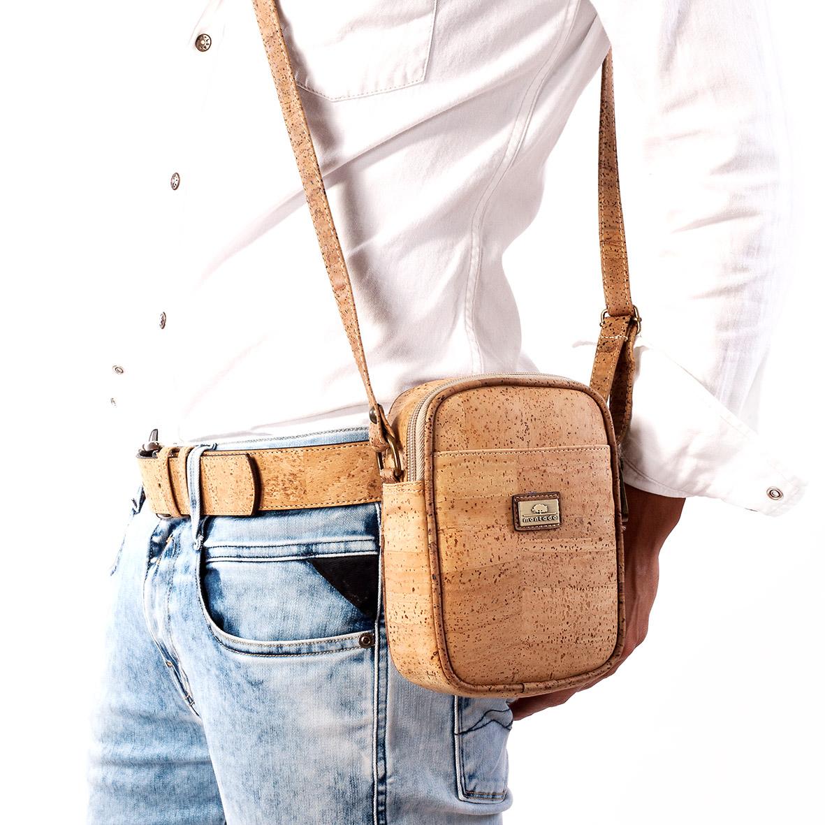 Cork Handbags: Cork Bags - Vegan Crossbody Bag In Cork