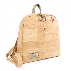 Cork Backpack with Cork Detail