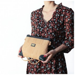 Cork Crossbody Bag with Lateral Details